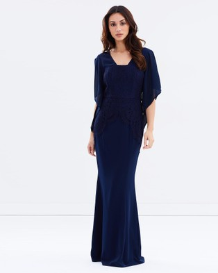 Romance by Honey and Beau – Fay Lace Maxi – Bridesmaid Dresses (Navy)