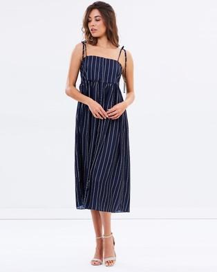 Shona Joy – Bermuda Baby Doll Midi Dress – Dresses (Navy Stripe)