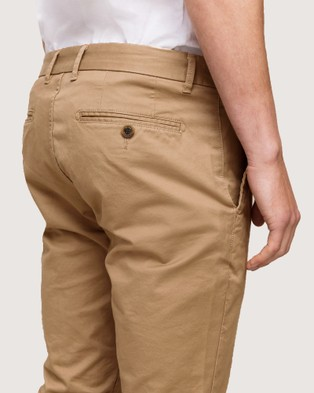 Wayver Slim Stretch Chinos - Pants (Sand)