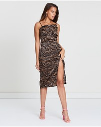 Dazie - Rebellious Assymetric Slip Dress