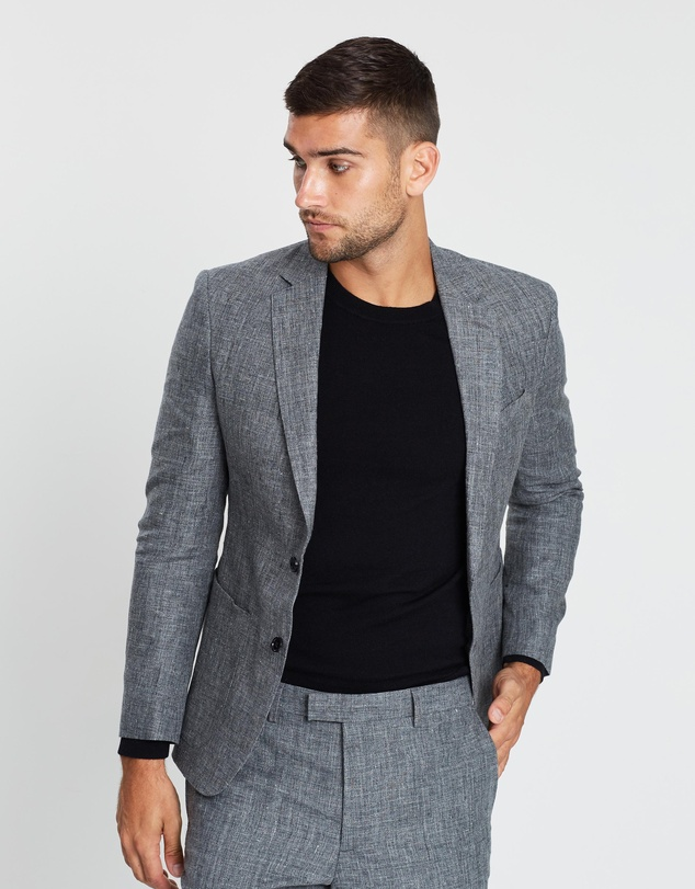 Banana Republic - Slim Linen Suit Jacket