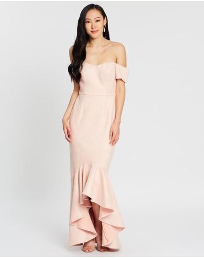 Romance By Honey And Beau Megan Off-shoulder Maxi Dress Pink