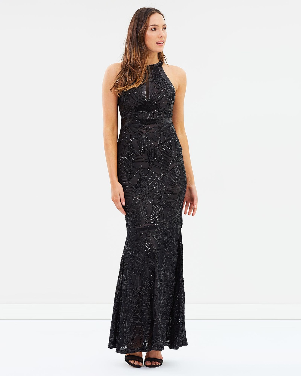 Alabaster The Label Black & Nude Enchantment Sequin Dress