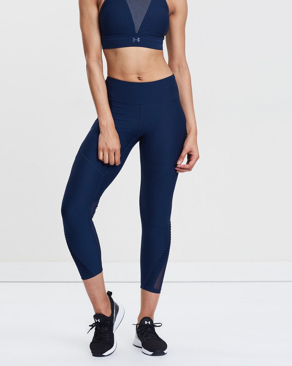 616f3fedbcef0 Vanish Pleated Ankle Crop Tights by Under Armour Online | THE ICONIC |  Australia
