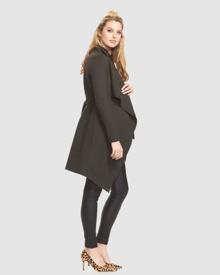 Soon Maternity Bonnie Coatigan - Jumpers & Cardigans (Khaki)