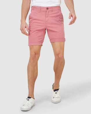 Superdry International Chino Short - Chino Shorts (Canyon Pink)