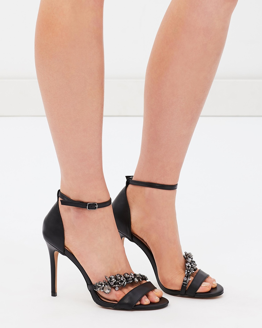 ALDO Petruro Heels Black Synthetic Petruro