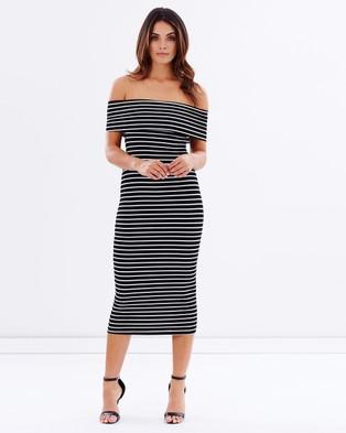 Atmos & Here – Lucy Body Con Dress – Bodycon Dresses (Stripe)
