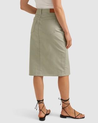 Sportscraft Dakoda Denim Skirt - Denim skirts (green)
