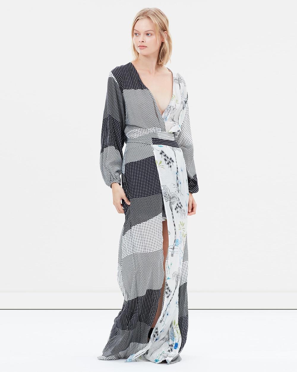 PFEIFFER Black & Powder Badu Gown