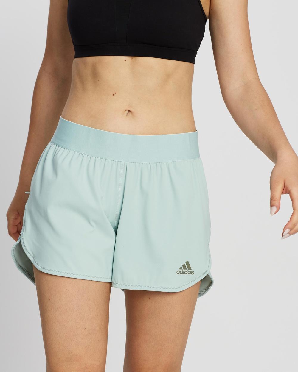 adidas Performance HEAT.RDY Training Shorts Green Tint
