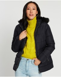 Dorothy Perkins - Fresh and New Short Faux Fur Padded Jacket