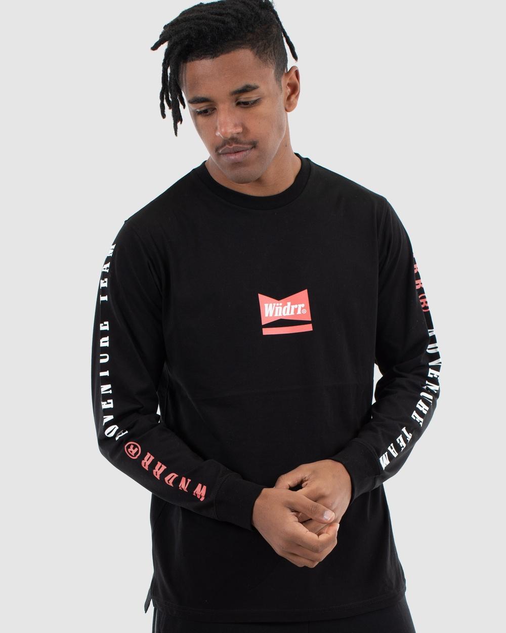 WNDRR - Chadwick Long Sleeve Tee - Long Sleeve T-Shirts (Black) Chadwick Long Sleeve Tee