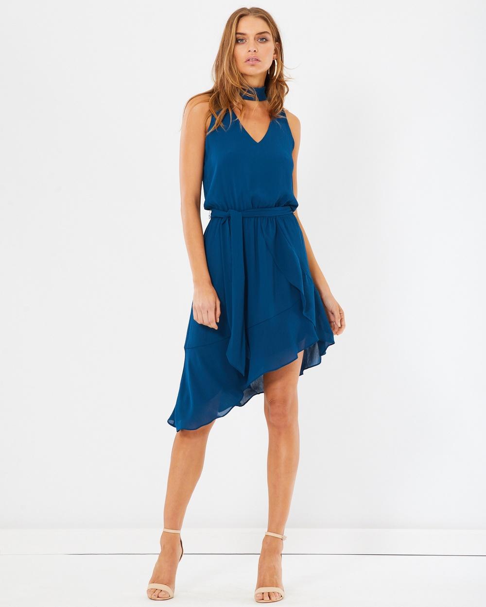 Tussah Stephie Ruffle Dress Dresses Teal Stephie Ruffle Dress