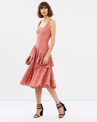 Lover – Ingenue Twist Midi – Bridesmaid Dresses Clay