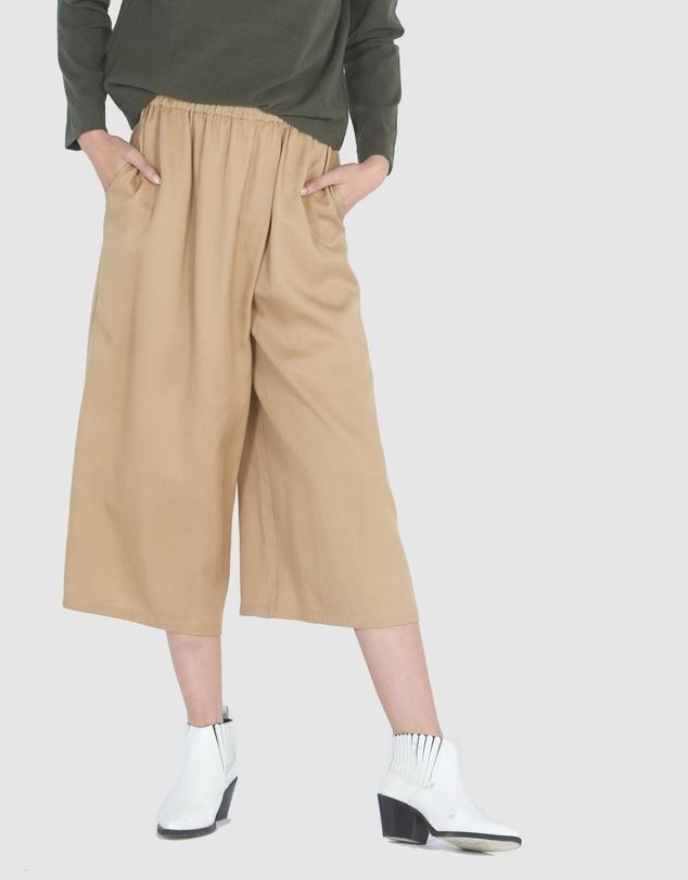 Women Wrap Front Culottes