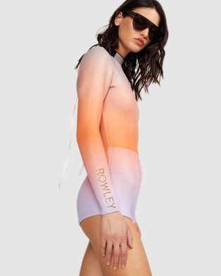 Cynthia Rowley Sea Ombre Wetsuit - One-Piece / Swimsuit (Pink/Orange/Lavender)