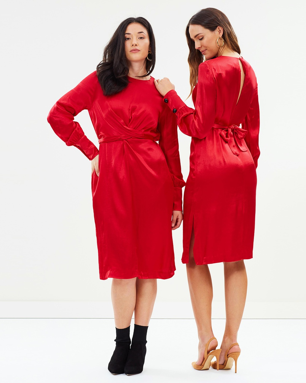 M.N.G Natalie Dress Dresses Rojo Natalie Dress
