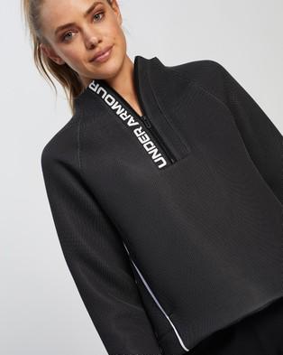 Under Armour Move 1 2 Zip - Sweats (Black & White)