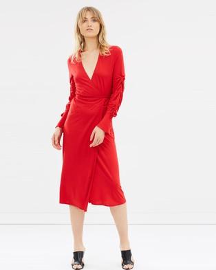 House of Dagmar – Justina Dress Lipstick Red