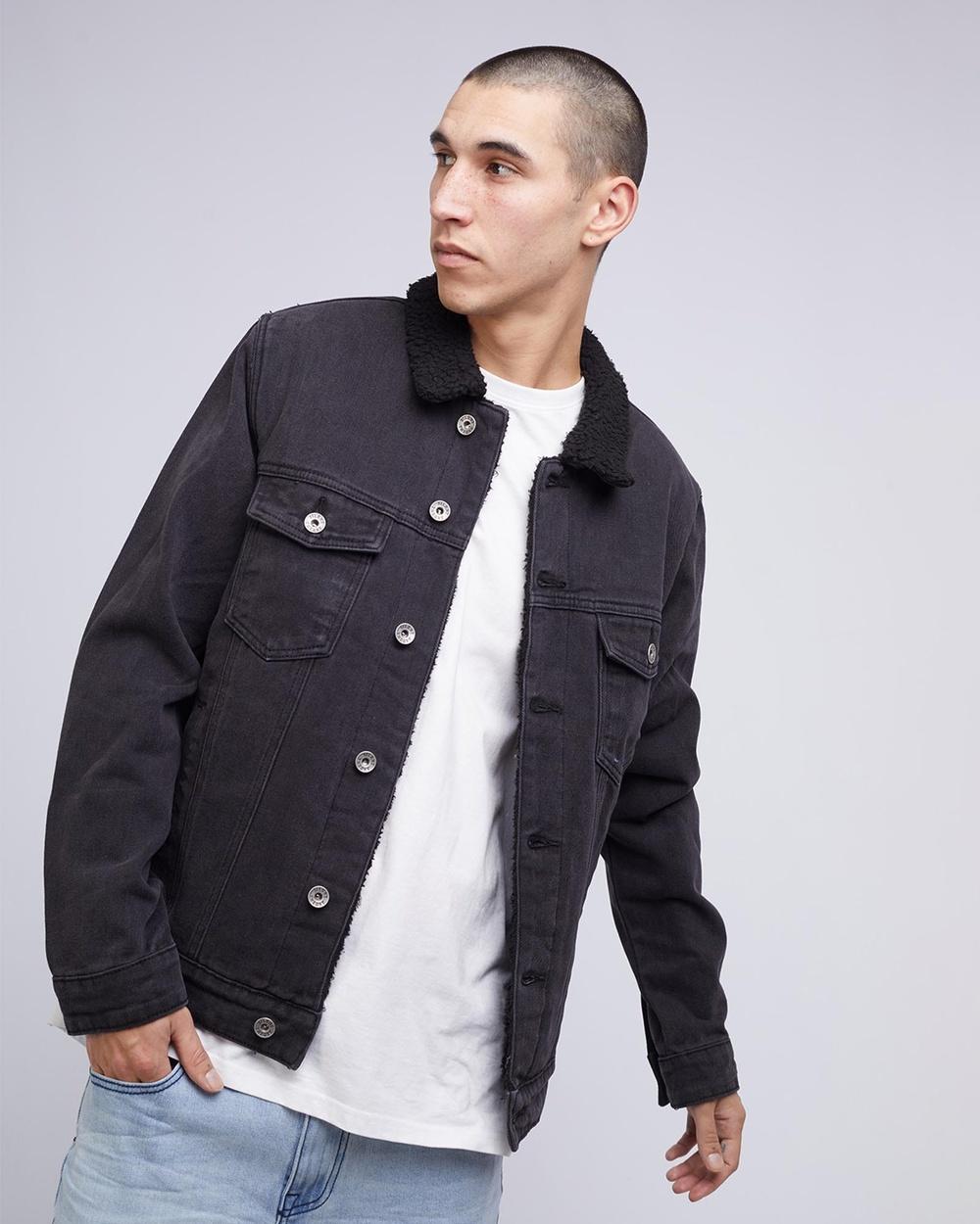 Silent Theory Jefe Sherpa Jacket Denim jacket Washed Black Australia