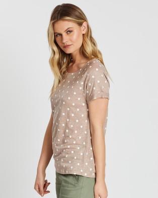 Sportscraft Tonia Round Neck Linen Tee - T-Shirts & Singlets (multi)