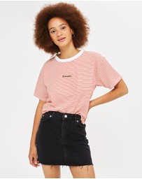 TOPSHOP - MOTO Denim Mini Skirt
