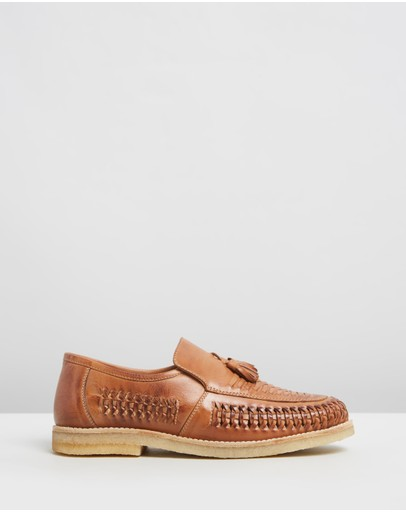 Double Oak Mills - Endo Woven Leather Loafers