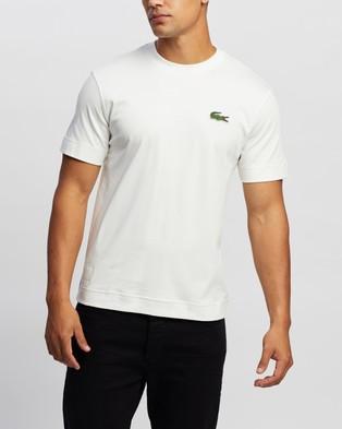 Lacoste - Exclusive   Unisex Jersey T Shirt - T-Shirts & Singlets (Flour) Exclusive - Unisex Jersey T-Shirt