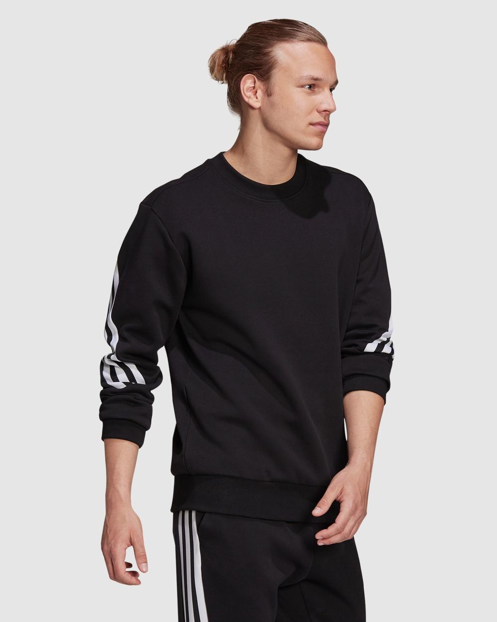 adidas Performance Sportswear Future Icons 3 Stripes Sweatshirt Long Sleeve T-Shirts Black 3-Stripes