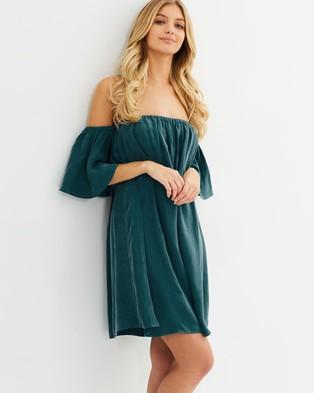 IMONNI – Vahn Dress Sandwash Teal