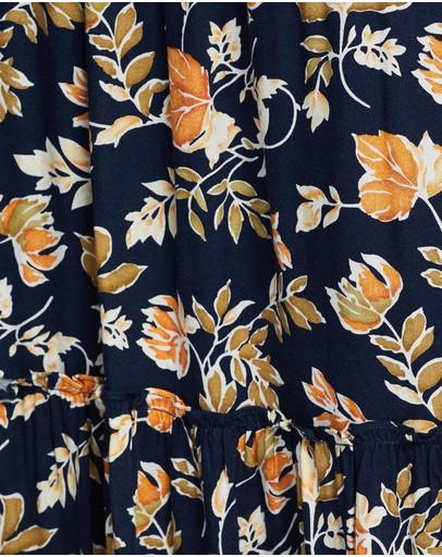 Seven Wonders Elena Maxi Skirt Navy Floral