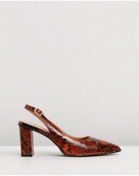 Skin - Zion Leather Slingback Heels