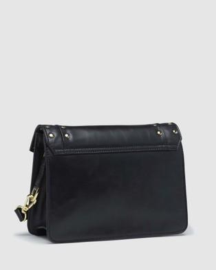 Oxford Patti Leather Stud Bag - Handbags (Black)