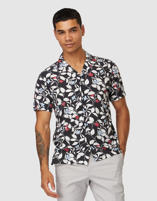 Jack London - Barnet Floral Short Sleeve Shirt