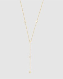 Wanderlust + Co - Zyia Gold Lariat  Necklace