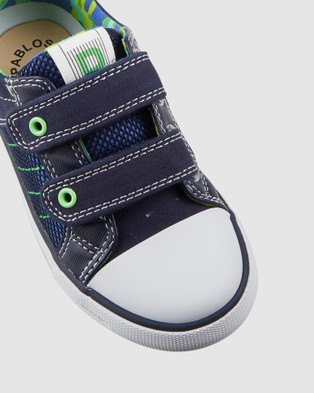 Pablosky Stitches Canvas Youth - Sneakers (Navy)