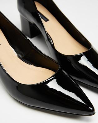 Nina Armando Paige Block Heels - All Pumps (Black Patent)
