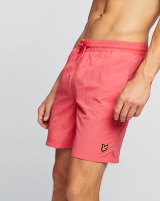 Lyle and Scott Plain Swim Shorts - Swimwear (Geranium Pink)