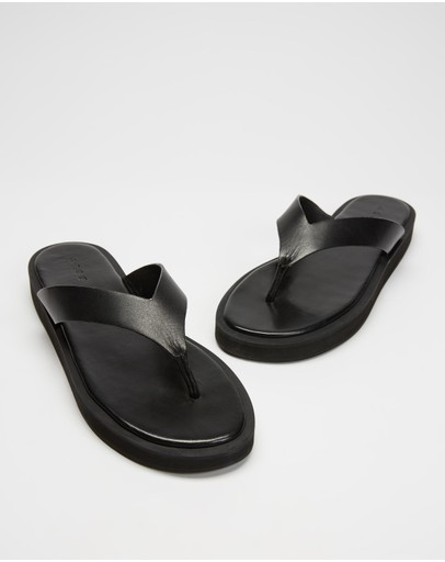 AERE - Midform Leather Thong Sandals