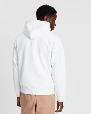 Carhartt Hooded Chase Sweatshirt - Hoodies (White & Gold)