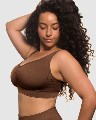 B Free Intimate Apparel Minimiser Bra - Crop Tops (Chocolate)