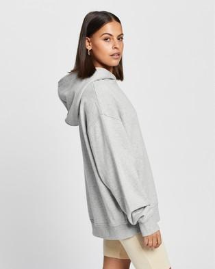 AERE Organic Cotton Comfort Hoodie - Hoodies (Grey Marle)
