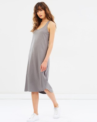 Cloth & Co. – Organic Cotton Singlet Dress Charcoal