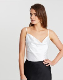 ICONIC EXCLUSIVE - Cowl Neck Slinky Cami