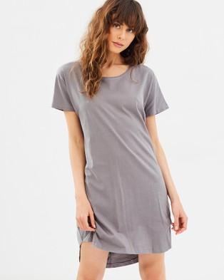 Cloth & Co. – Organic Cotton T Shirt Dress Charcoal