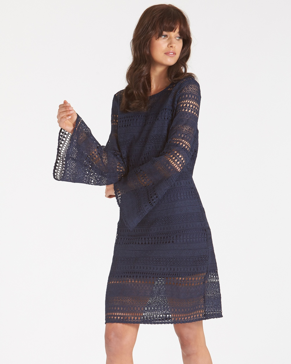 Amelius Brielle Lace Dress Dresses Navy Brielle Lace Dress