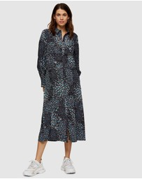 TOPSHOP - Floral Print Ruched Shirt Dress