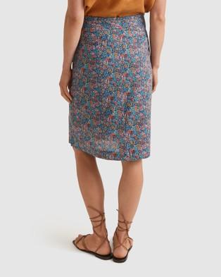Sportscraft Meadow Linen Liberty Skirt - Skirts (Multi )