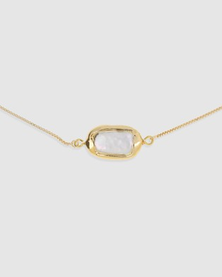 Arms Of Eve St Maartin Freshwater Pearl Choker Necklace - Jewellery (Gold)